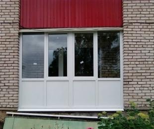 Балконная рама из ПВХ. Плещеницы. №8