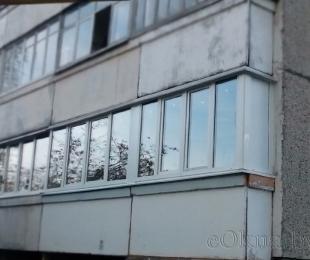 Балконная рама из ПВХ. Плещеницы. №9