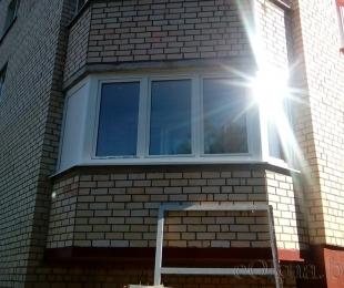 Балконная рама из ПВХ. Плещеницы. №12