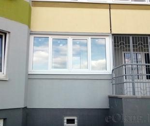 Балконная рама из ПВХ. Плещеницы. №3