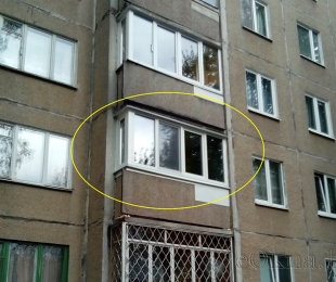Балконная рама из ПВХ. Плещеницы. №2