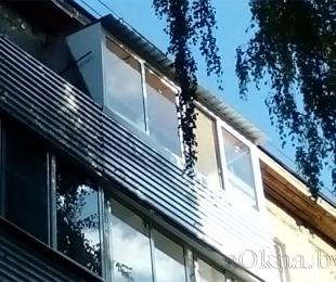 Балконная рама из алюминия. Плещеницы. №6