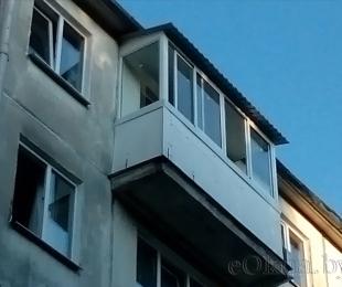 Балконная рама из алюминия. Плещеницы. №4