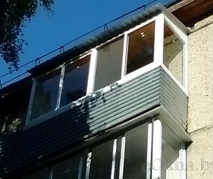 Балконная рама из алюминия. Плещеницы. №7