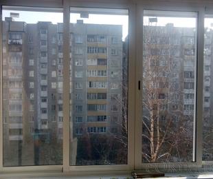 Балконная рама из алюминия. Плещеницы. №2